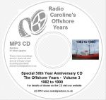 50 Years of Radio Caroline vol 3 mp3 CD