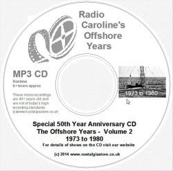 50 Years of Radio Caroline vol 2 mp3 CD